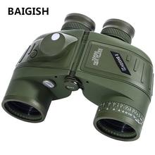 Discount! BAIGISH Binoculars Powerful Russian Military 10×50 Marine Telescope Digital Compass Low-Light Level Night Vision Binocular