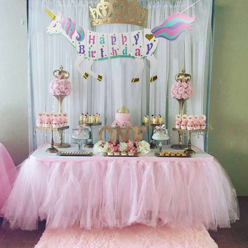 Bedroom Art Supplies: Glitter Unicorn DIY Garland Happy Birthday Unicorns Banner
