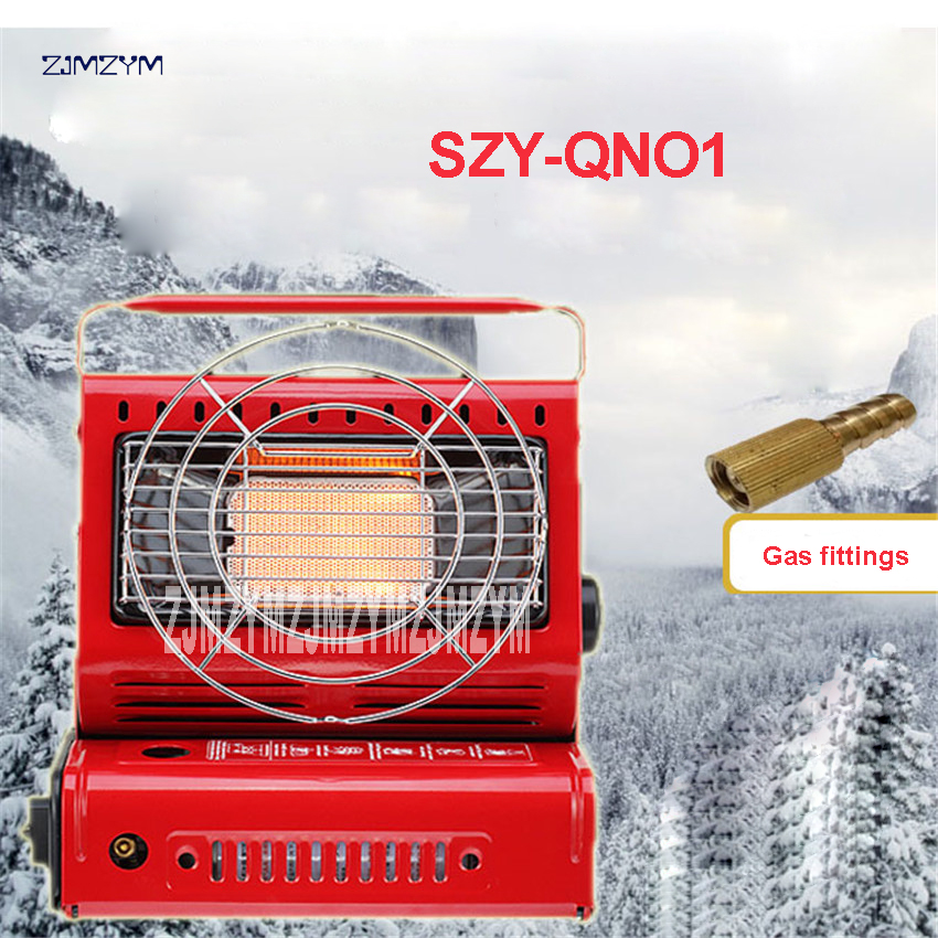 SZY-QNO1 Outdoor 2 in 1 New Heater / Portable Gas / Portable Oven Portable Gas Stove / Gas Stove For Camping And Fishing 1.3KW camping stove ice fishing heater stove page 1 page 3