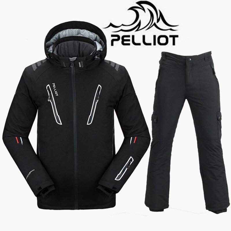 Pelliot Ski Suit Men Super Warm Waterproof 10K Ski Jacket Snowboard Pants Breathable Skiing Snowboarding Suits Outdoor Snow Suit