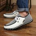 Plus Size Homens Verão Sapatos Casuais Sapatos Da Moda Sapatos Baixos Lace-up Sapatos Baixos Homens Sapatos Mocassins dos homens PU Zapatillas couro Hombre39-46