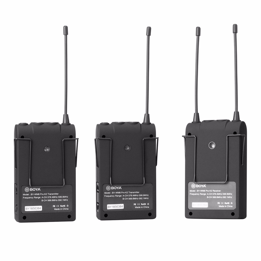 Wearable Devices BOYA BY-WM8 Pro-K2 UHF Wireless Microphone Audio Recorder For Canon Camcorder Dropshipping