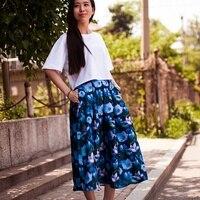 2015 Summer Style 3d Print Flower Double Layer Yarn Fabric Beach Ladies Maxi Skirt Vintage Women
