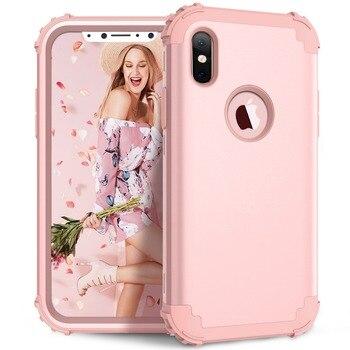 Pink Hybrid Armor iPhone X Case