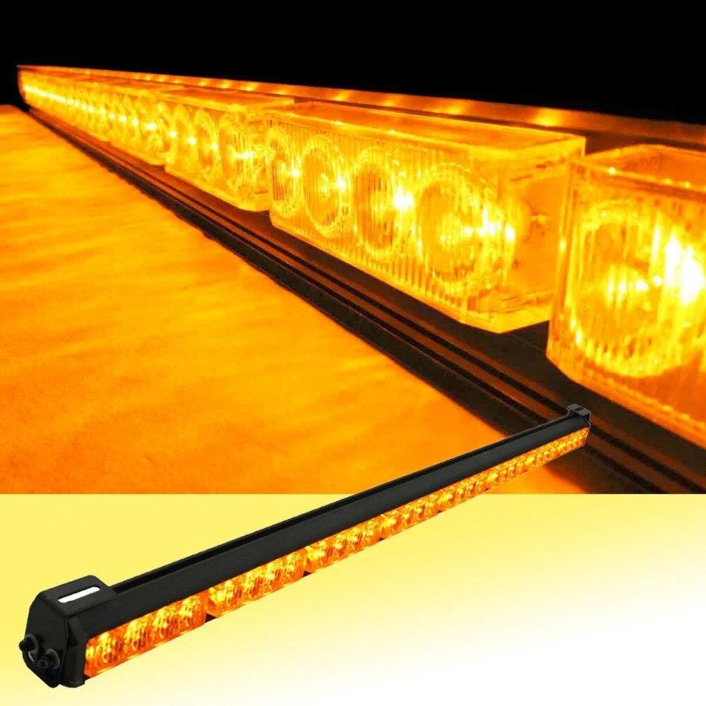 12 В или 24 В 32 LED 36 янтарь желтый аварийный Трафик Советник флэш Strobe Light Bar пр ...