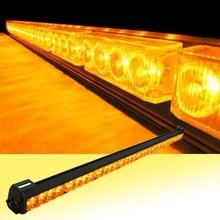 12V or 24V 32 LED 36″ Amber Yellow Emergency Traffic Advisor Flash Strobe Light Bar Warning
