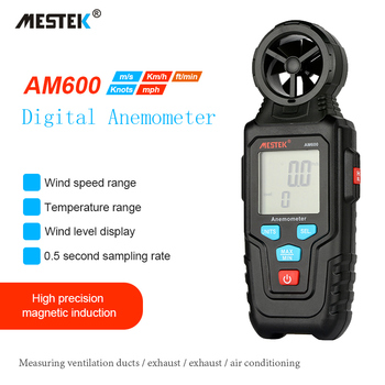 MESTEK Portable Anenometer 30m/s LCD Digital Speed Measure tools Anemometro Thermometer Wind Speed Gauge Meter Windmeter