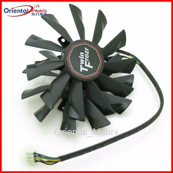 2pcs/lot PLD10010S12HH DC12V 0.40A 95mm 4Pin VGA Fan For MSI R7-260X R9-290X R9-280X R9-270X Graphics Card Fan image