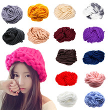 Hot Soft Roving Bulky Chunky Super Thick Big Spinning Hand Knitting Ply Yarn 35m DIY Knitting Craft Accessories Multi-color Yarn