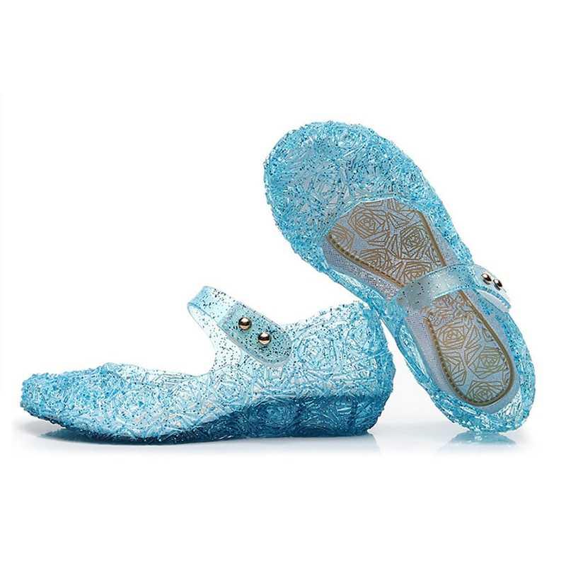 Fantasia de cinderela para crianças, sapatos femininos de cristal da anna e festa, presente de natal, 328