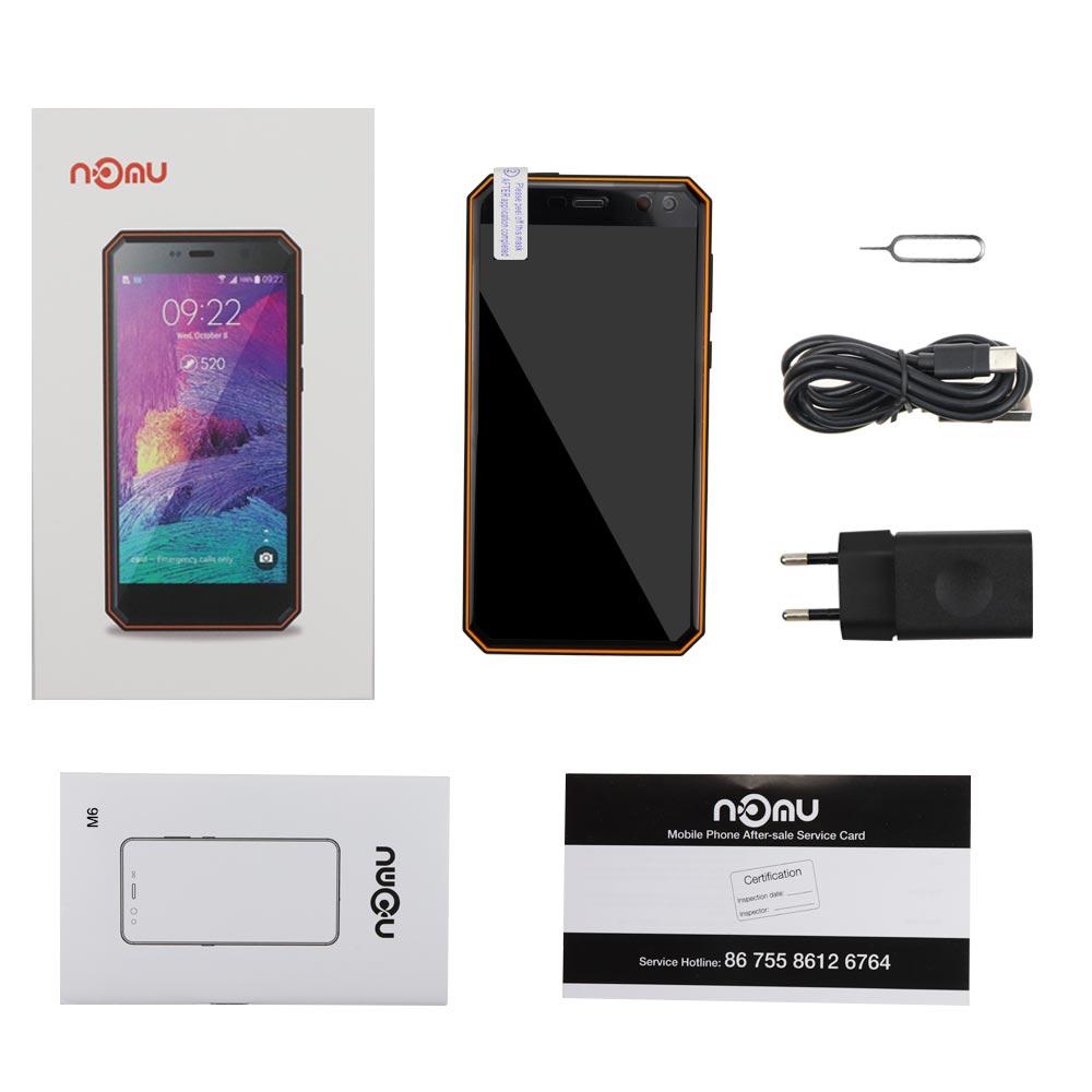 "Оригинал ному M6 смартфон 5,0 ""HD 4 ядра MTK6737T Android 6,0 телефон противоударный 13.0MP 1280x720 3000 mAh телефоны телефон ip68 Водонепроницаемый мобильного телефона"