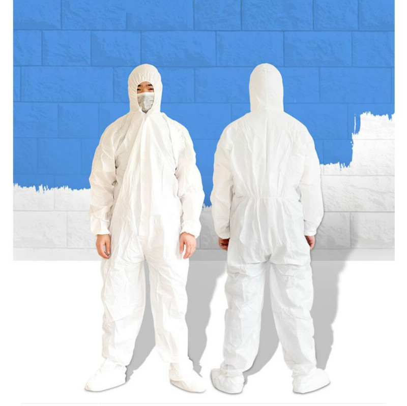New Disposable Non-woven Safety Clothing Dust-proof Purification Protective Dust-free Spray-painted Clothing Cleanroom Garments