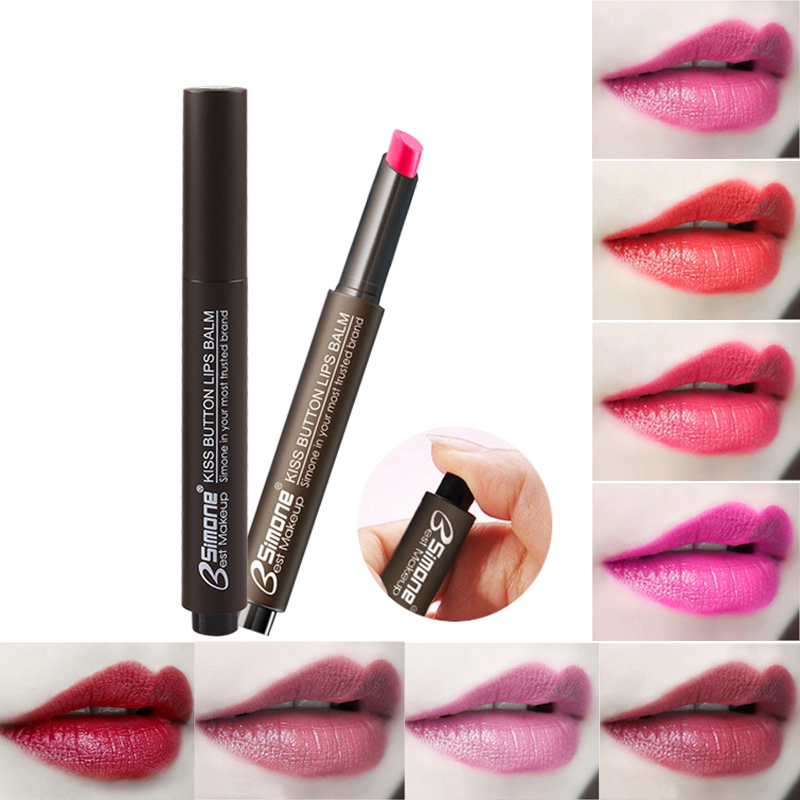 Press-Type Lipstick Moisturizing Waterproof Non-Stick Cup Color Changing Lipstick Matte Makeup Beauty Cosmetics