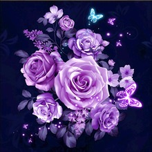 Butterfly rose diamond Embroidery diy painting mosaic diamant 3d cross stitch pictures H472