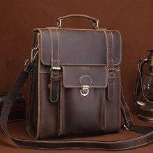 Crazy Horse, Воловья кожа, рюкзак, высокое качество, натуральная кожа, сумка на одно плечо, винтажная, для женщин и мужчин, школьный рюкзак