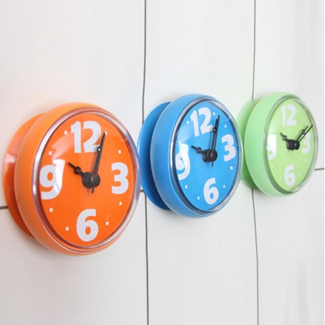 Schön 1 Stück Mini Wasserdichte Sucker Uhr Runde Wanduhr Saug Badezimmer Küche  Glasfliese Fenster Spiegel Dusche Uhr