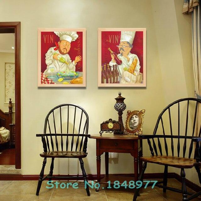 Online Shop 2 Panels Mondern Cuadros deocracion Cartoon Chef Canvas ...
