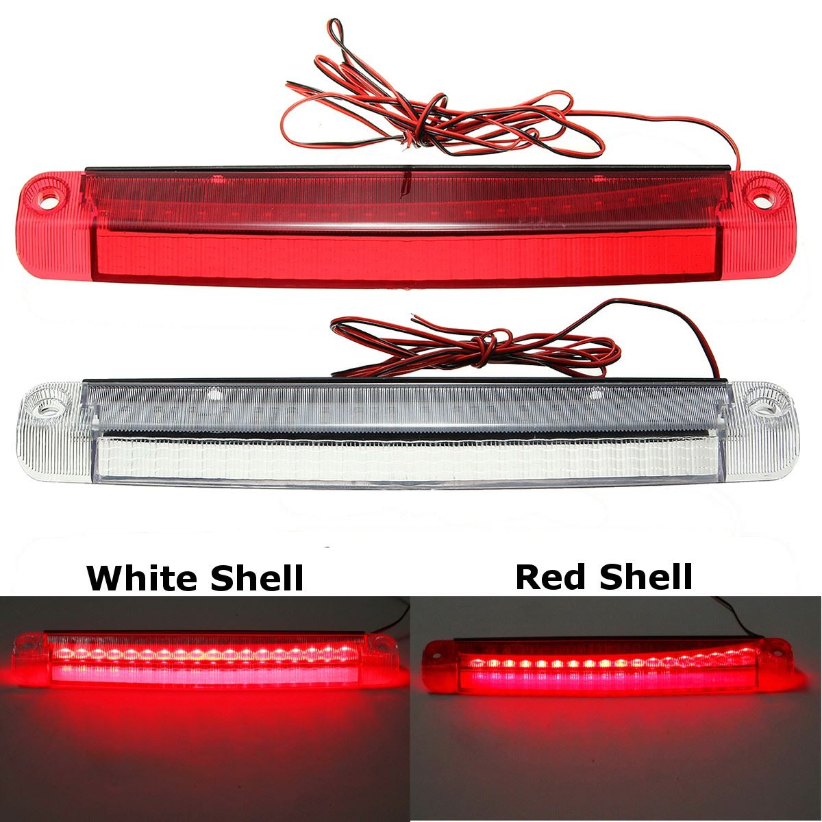 Unverisal 12V 5W Car 18 LED Car Reversing Lights Rear Tail Third Brake Stop Light High Mount Lamp Red 1210 car styling tail lights for toyota highlander 2015 led tail lamp rear trunk lamp cover drl signal brake reverse