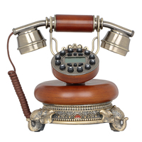 משלוח חינם מכונה בסיס טלפון אמריקאים בית רטרו טלפון עתיק טלפון שיחה מזוהה טלפון Creative