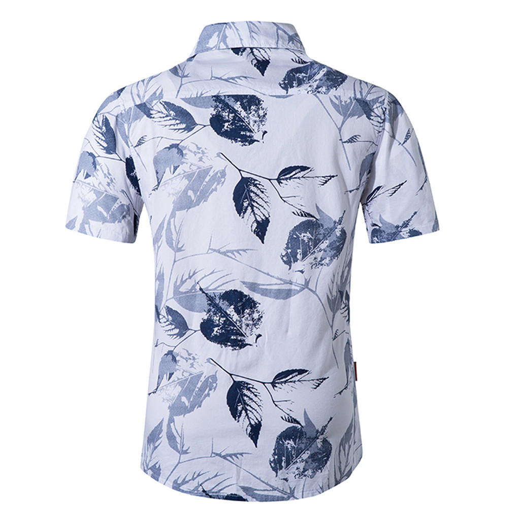 Men Casual Tops,Men Women Fashion New Beach Style Printing Cotton Short Sleeve T-shirt Tops