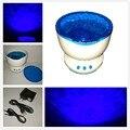 2017 Océano LED Proyector de La Noche de La Lámpara Atmósfera Luces Azules Olas Del Mar Del Proyector Con Mini Altavoz Niños Favorito Dulce Luces Suaves