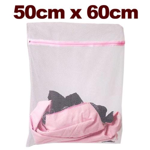 Laundry Mesh Net Washing Bag Clothes bra sox Lingerie Socks Underwear 60x50CM UK