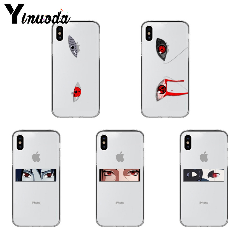 Yinuoda Anime Naruto Eyes Sharingan TPU Soft Silicone Phone Case Coque for iPhone Xr XsMax 8 7 6 6S Plus Xs X 5 5S SE 5C Cases-in Half-wrapped Cases from Cellphones & Telecommunications