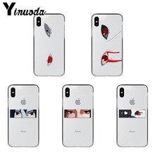 Yinuoda funda de teléfono de silicona suave para iPhone, protector de Ojos de Naruto Sharingan de TPU, Coque para iPhone Xr XsMax 8 7 6 6S Plus Xs X 5 5S SE 5C