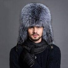 Nuevo invierno hombres mujeres caliente chica Noble real superior de cuero  genuino piel de zorro regalo e64954dde63
