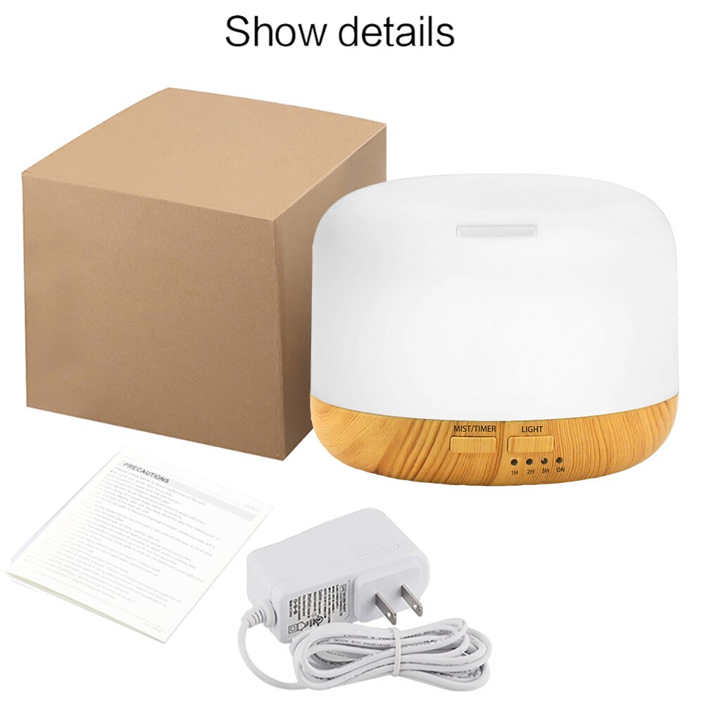 Купить с кэшбэком Essential Oil Diffuser Household Ultrasonic Cool Mist Air Humidifier with 7 Color Changing LED Light Aroma Diffuser Humificador