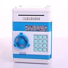 Caja de dinero, hucha de seguridad, Mini cajero automático, contraseña electrónica para masticar monedas, máquina de depósito de dinero para niños como ATM-ZH de regalo