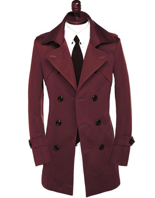 Vinho vermelho marrom cáqui preto clássico dos homens de roupas primavera outono homens do revestimento de trincheira de médio-longo casacos sobretudo homens plus size 8xl 9xl