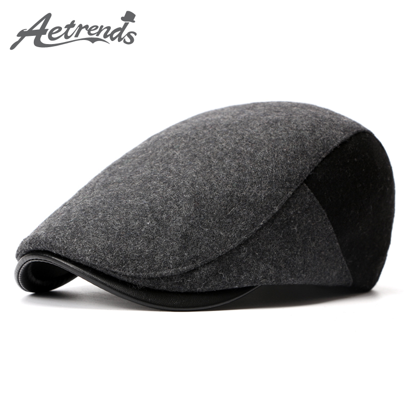 [AETRENDS] 2017 Winter Berets England Style Beret Hats for Men or Women Retro Cap Z-3976