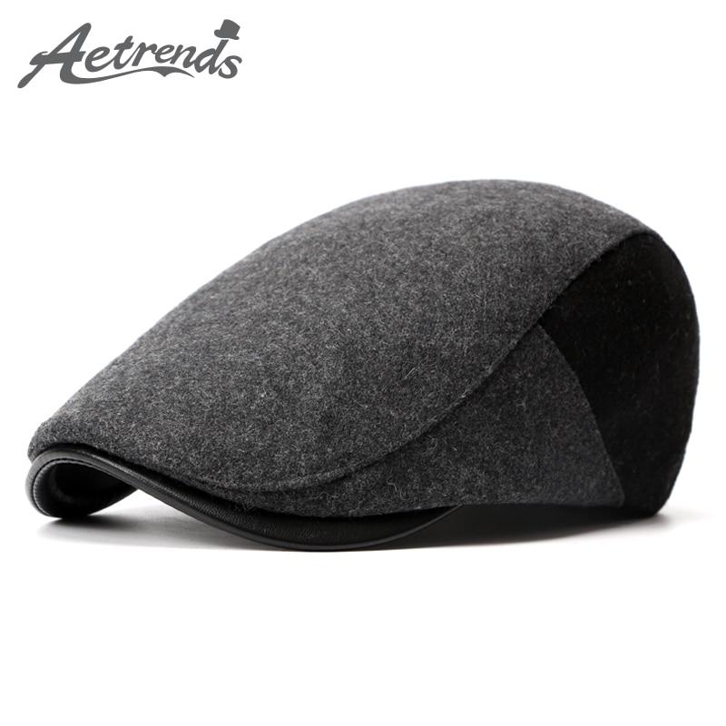 [AETRENDS] 2017. aasta talvebetid Inglismaa stiilis Bereti mütsid meestele või naistele Retro Cap Z-3976