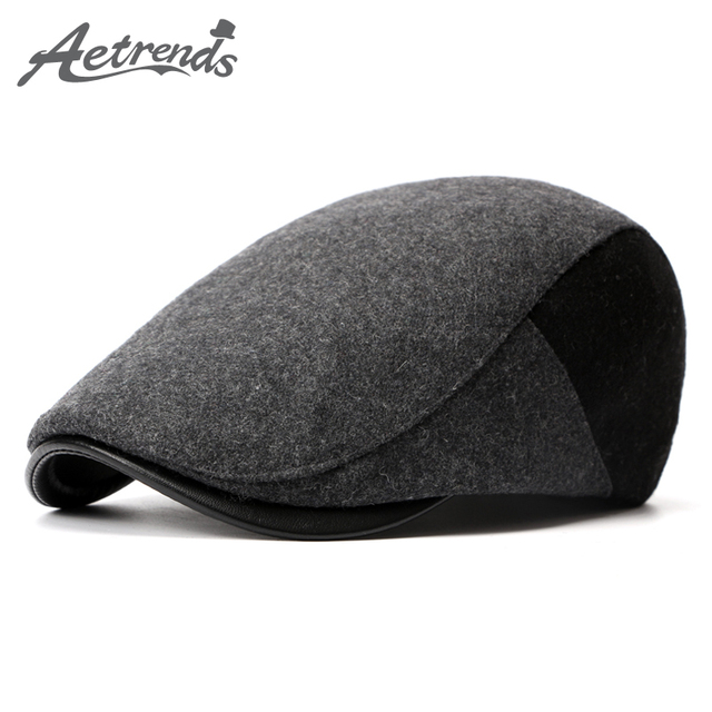 c989e568 [AETRENDS] 2017 Winter Berets England Style Beret Hats for Men or Women Retro  Cap