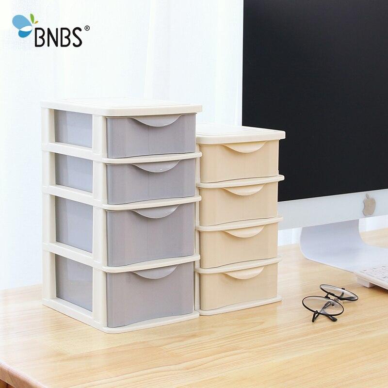 BNBS Plastic Makeup Organizer Storage Box Small Drawer Jewelry Box Office Desktop Sundries 3 Layer Storage cosmetic Container makeup organizer box
