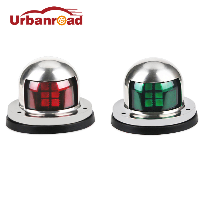 Urbanroad 2pcs Sailing Signal Led Boat Lights Navigation Stainless Steel 12v Led Bow Navigation Light Marine Boat Yacht Light voyager 2 4g mini rc sailboat sailing yacht educational toy ready to run enjoy sailing fun