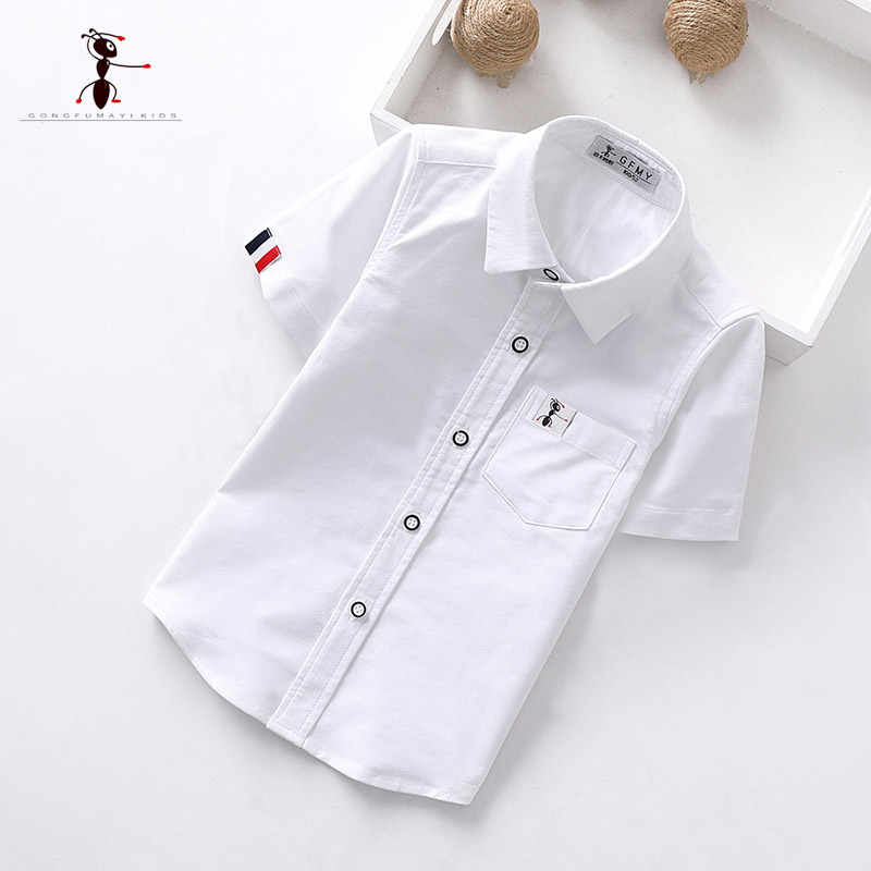 4a3c92811d993 Teenage Boys Shirts School Shirt for Boys Turn Down Collar Shirt For ...