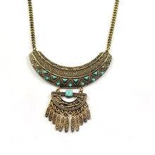 Collier Femme Boheme Maxi Boho Chic Collana Collier Plastron Collares Declaración Collar de Flecos Bohemio Tribal Vrouwen