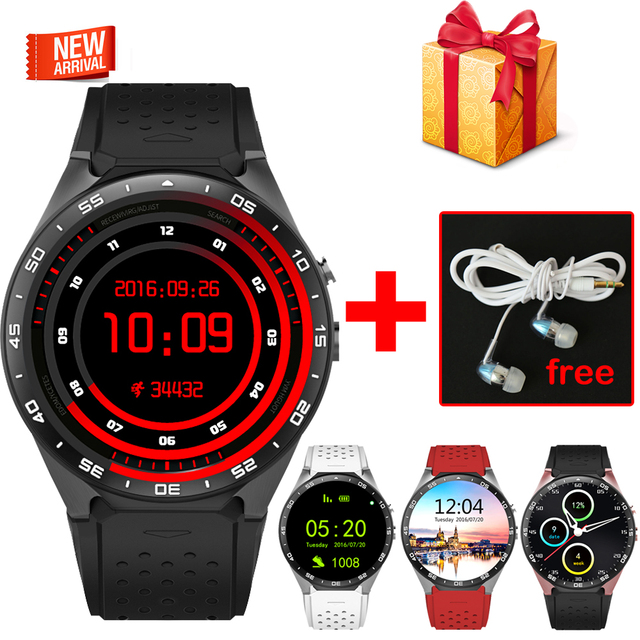 In stock ! Kingwear KW88 android 5.1 Smart watch 1.39 inch 400*400 SmartWatch phone 3G wifi 2.0MP Camera Heart Rate pk d6 x5 d5