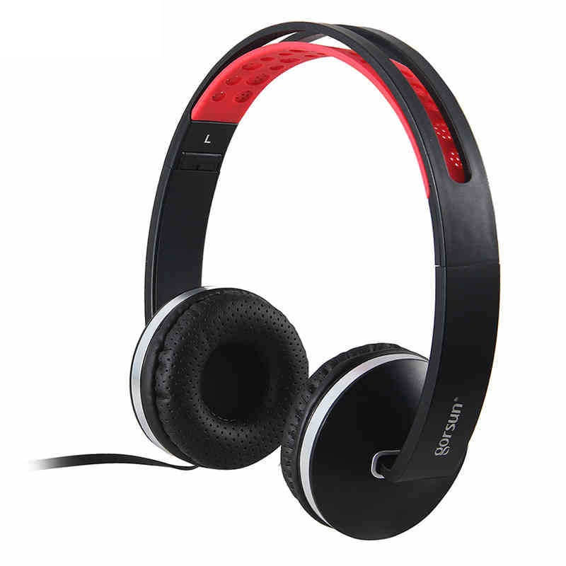 GORSUN Bass Headphones Stereo Surrounded Headset 3.5mm Wired With Microphone And Voice Control For Smartphone Mp3 MP4 Tablet PC