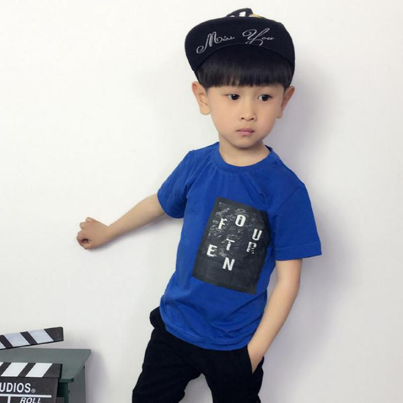 Hot 2016 New Summer Boys Girls T shirt Casual Cotton Top T shirts For Kids Baby