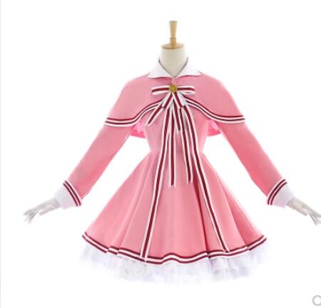 Cosplay Cardcaptor Sakura 2 CCS 2 Kinomoto Sakura Cosplay Costume Pink Full Set Halloween Carnival For Women Costume