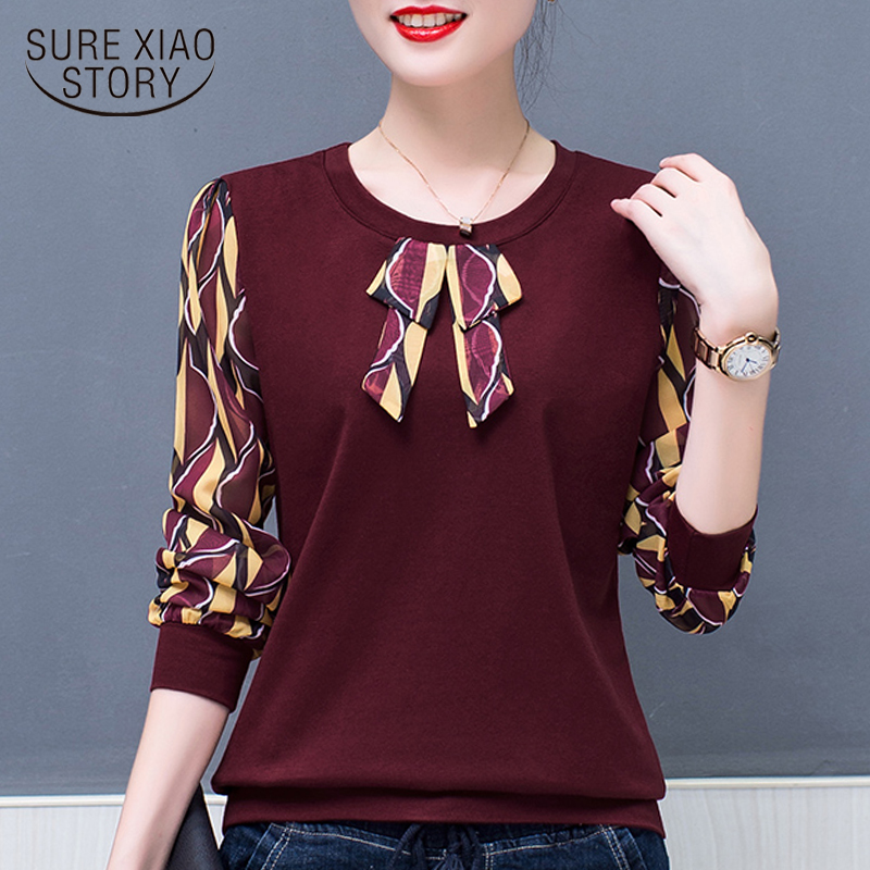winter   blouse   plus size women tops fashion woman   blouses   2018 print cotton   blouse     shirt   long sleeve wome   shirts   clothes 1709 50