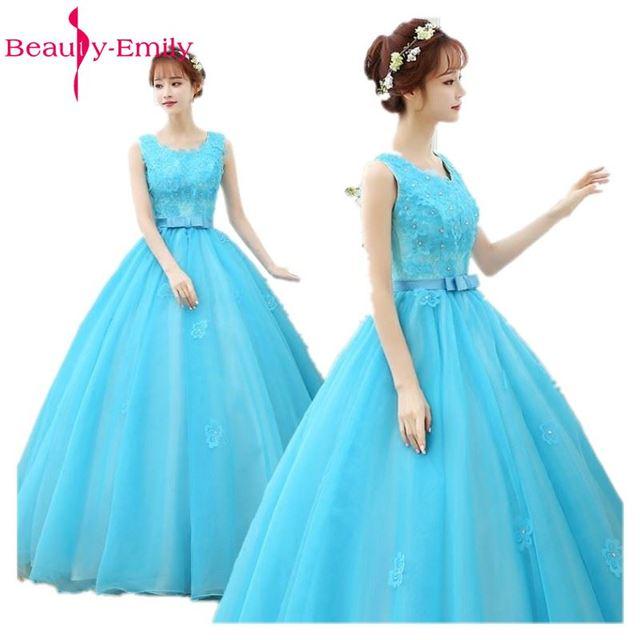 Turquoise Jurk Bruiloft.Opruiming 2019 Bruiloft Hemelsblauw Mouwloze Moderne Mode Mooie