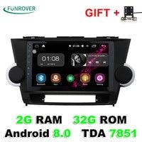 Quad Core 2 Din Android 8 0 9 Car Radio GPS DVD Navi For Toyota HIGHLANDER