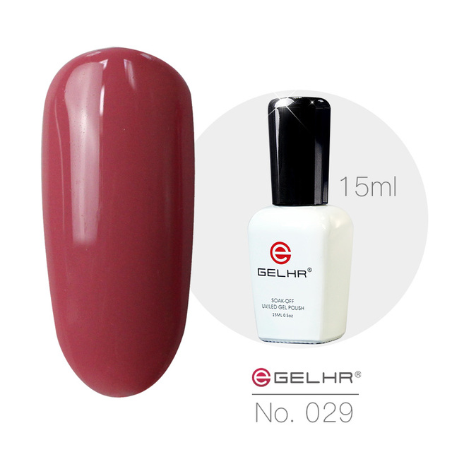 GELHR Nail Gel Polish 15ml 029 Red Bean Color For Professional Nail ...