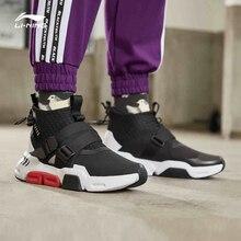 Мужская прогулочная обувь Li Ning, нескользящая стильная спортивная обувь для отдыха, удобные кроссовки, AGLP037, SJFM19