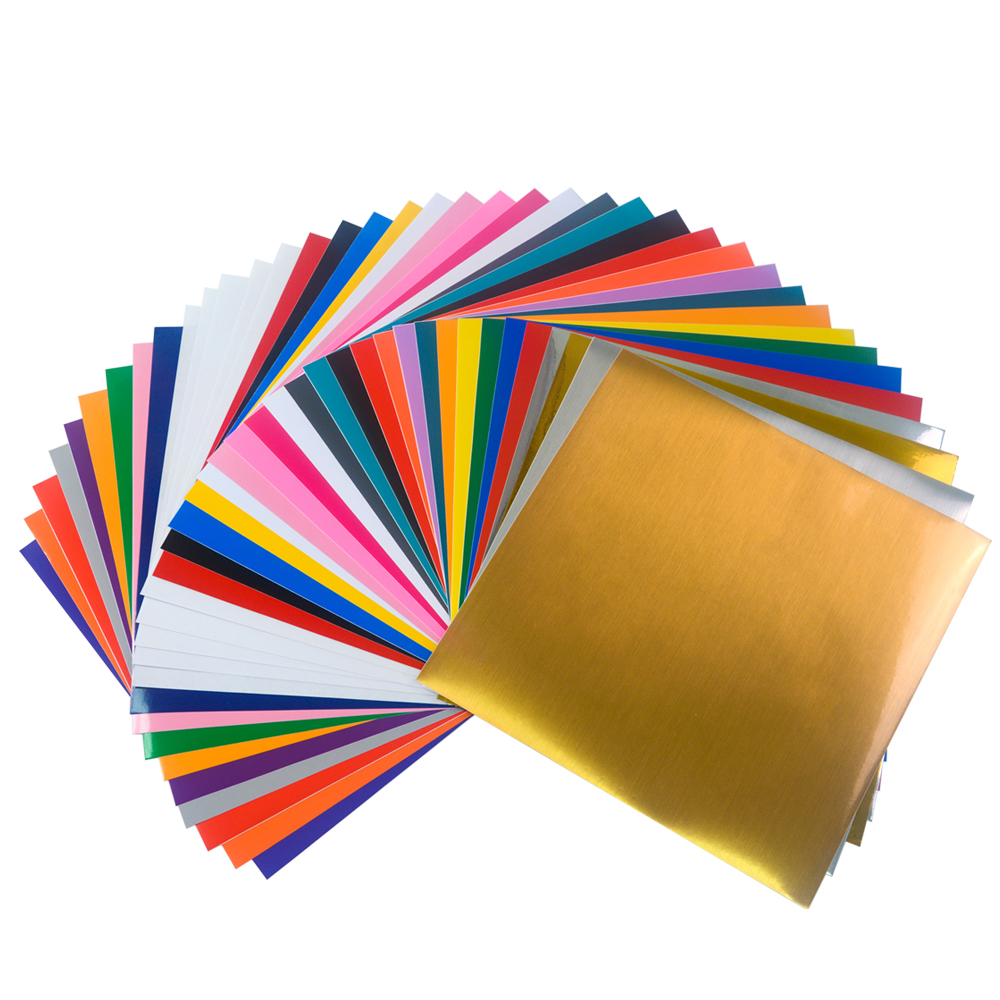 Vinyl lettering decals for crafts - 5 Sets 12 X12 Adhesive Vinyl Sheets 38 Sheets Per Set For