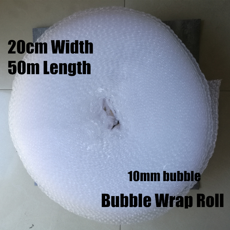 0.2*50m 1roll 10mm Cushioning Bubble Roll Warp Polietileno Packing Film Materials Verpakkings Materiaal Embalagem Da Bolha De Ar